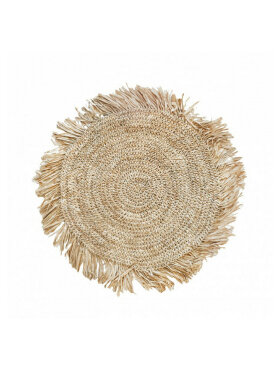 Bazar Bizar - The Fringe Raffia Placemat