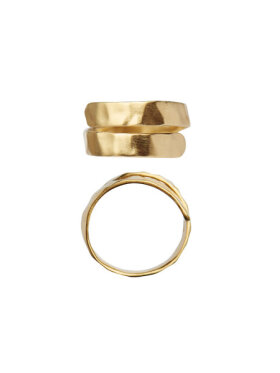 Stine A - Hammered Open Ring