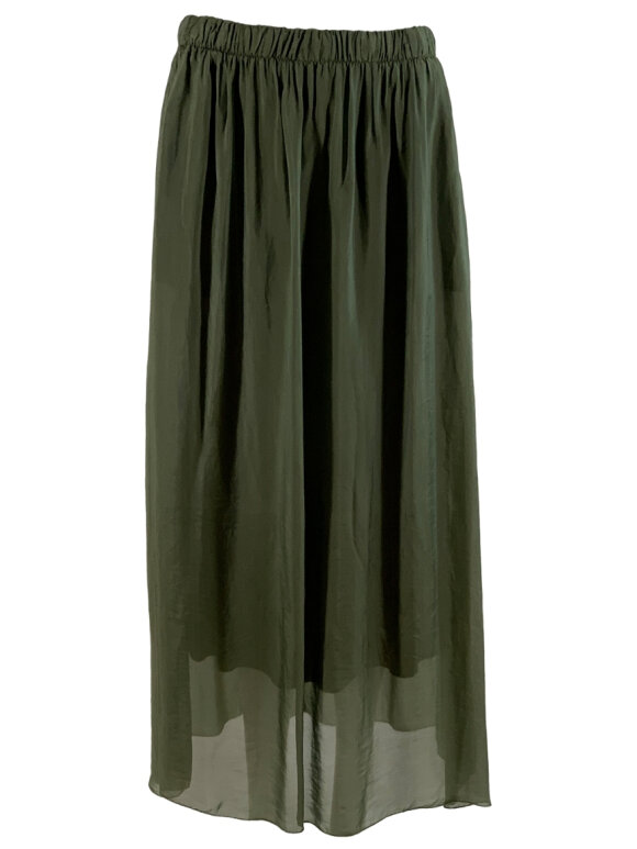 Black Colour - Maxi Skirt