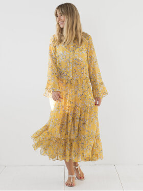 Les Levres - Diana Dress Yellow flower
