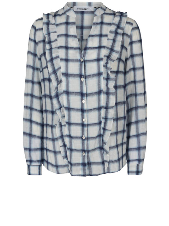 Co'Couture - Clint Check Frill Shirt