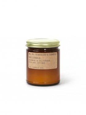 P.F. Candle Co. - NO. 04 Teakwood & Tobacco Soy Candle Standard