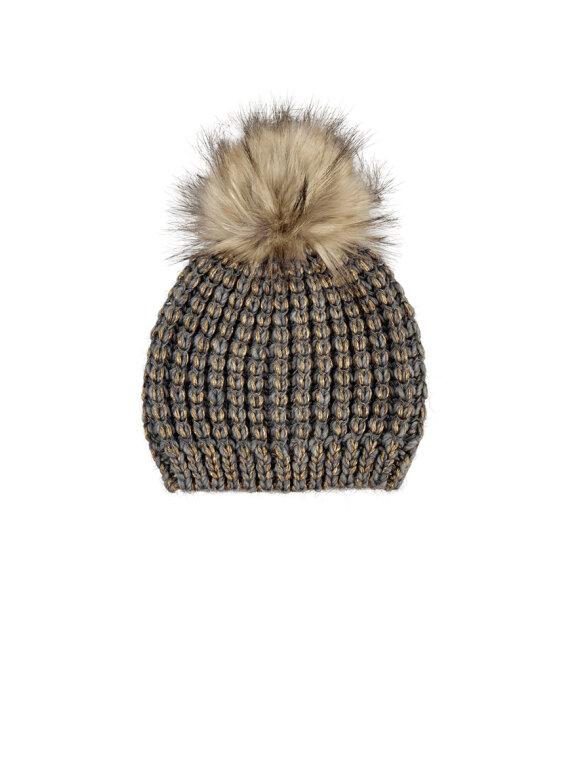 Black Colour - Bibi Furball Hat