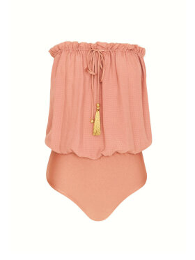 Hanne Bloch - Square Silk Bandeau Swimsuit