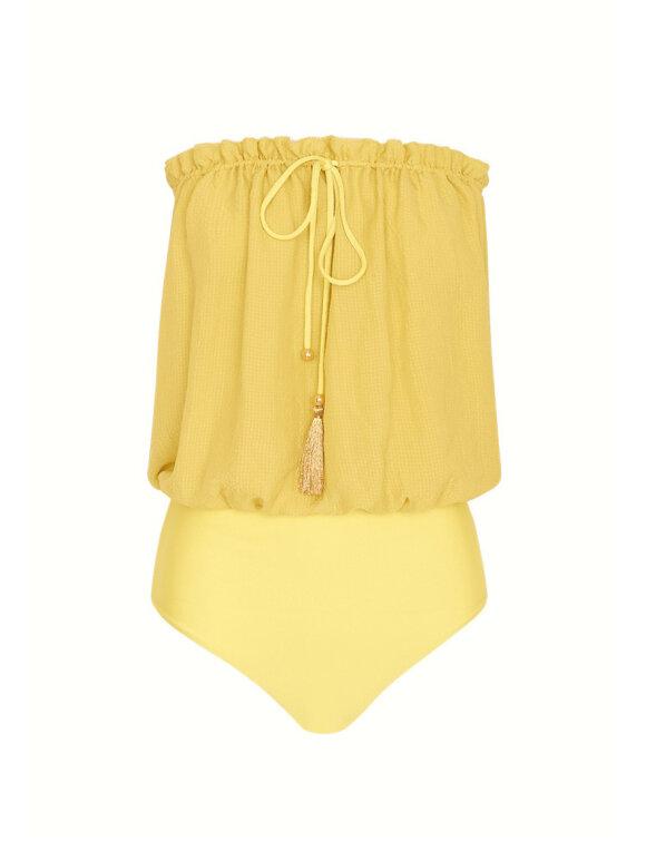 Hanne Bloch - Square Silk Bandeau Swimsuit