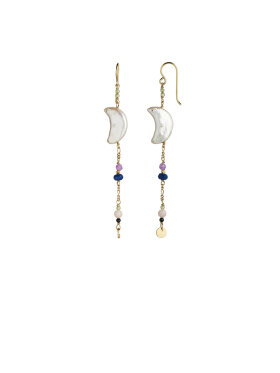 Stine A - Midnight Moon Peal Earring