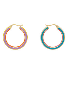 Anna + Nina - Rainbow Hoop Earrings
