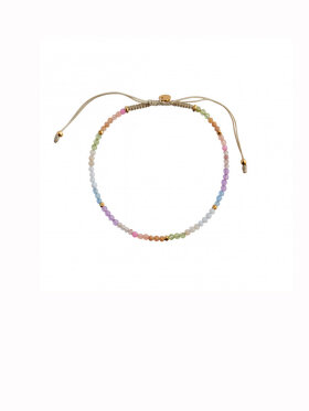 Stine A - Soft Rainbow Ribbon Bracelet
