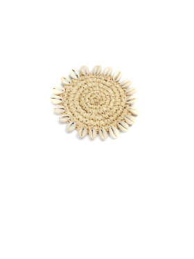Bazar Bizar - The Raffia Shell Coaster