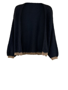 Black Colour - Nika Plain Cardigan