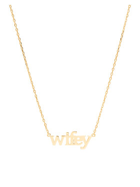 Sui Ava - Wifey Text Necklace