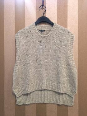 Black Colour - Nina Knitted Waistcoat