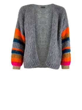 Black Colour - Hera Brushed Knit Cardigan