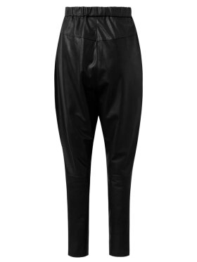 DEPECHE - Baggy Leather Pant w/zip pockets