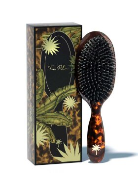Fan Palm - Hair Brush Lux Tortoise Shell Medium