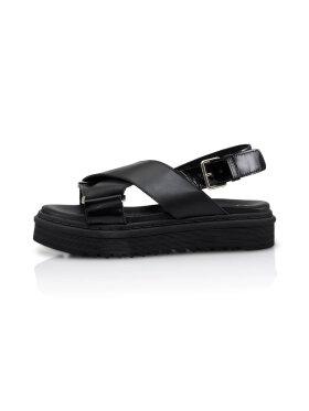Shoe Biz Copenhagen - Sila Black Mix Sandal