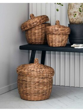 House Doctor - Basket w. Lid Small