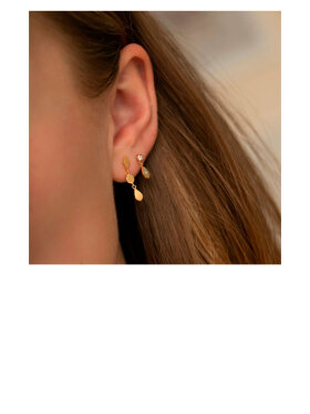 Stine A - Big Dot Sparkling Teardrop Earring