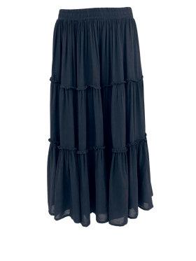 Black Colour - Ada Boho Skirt