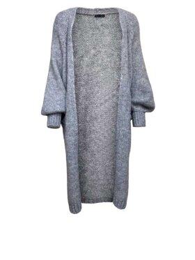 Black Colour - Fabiola Long Knit Cardigan