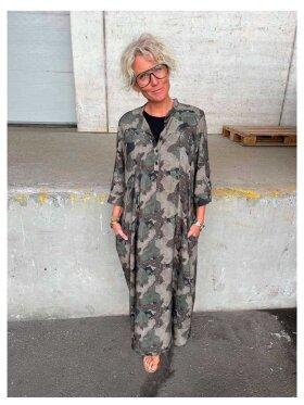 Black Colour - Kenna Camouflage Dress
