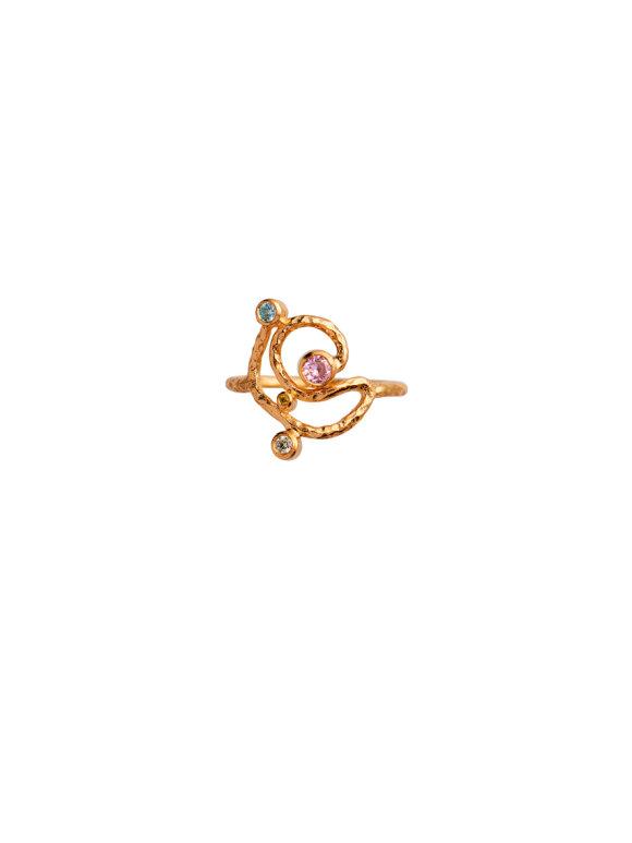 Stine A - Twirly Candy Dots Ring