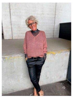 Black Colour - Simona Knitted Jumper