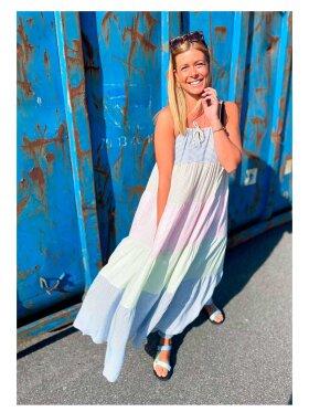 MARTA - Long Striped Strap Dress