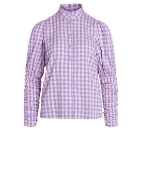 Co'Couture - Cadie Check Puff Shirt