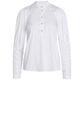 Co'Couture - Sandy Poplin Puff Blouse